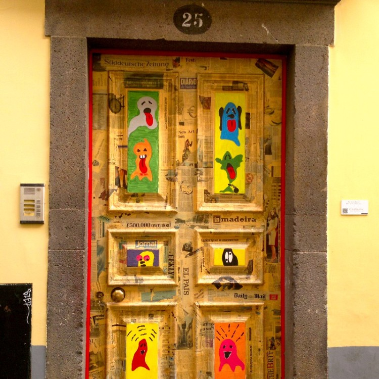 Decorated doors in an old city